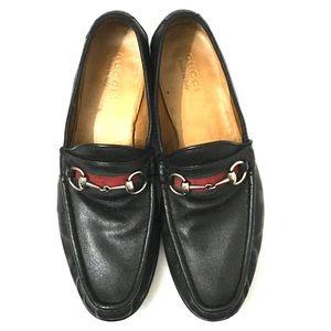 Gucci Mens Black Horsebit Loafers